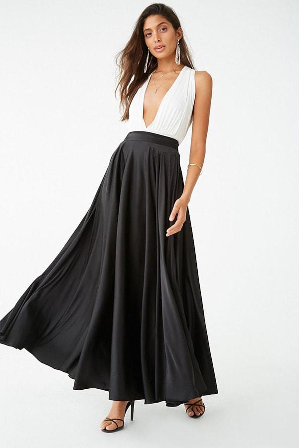 Black maxi skirt from Forever 21