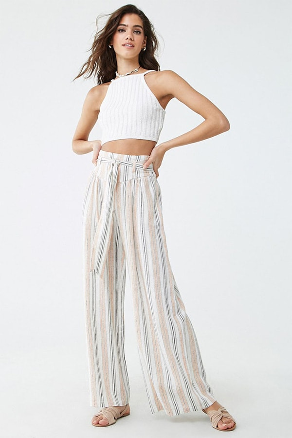 Wide-legged, striped pants from Forever 21