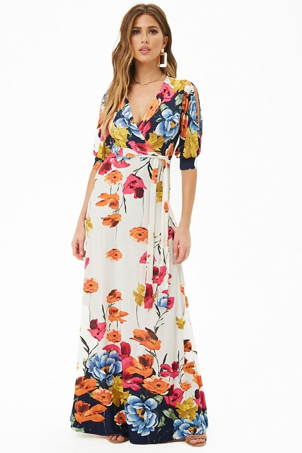 Floral wrap dress from Forever 21