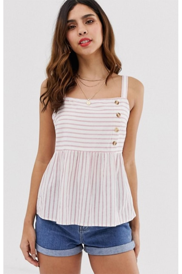 Striped summer tank top as a picnic outfit option