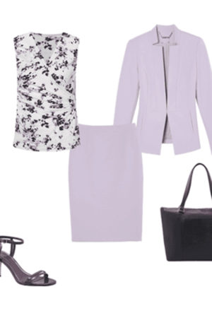 Lavender women's suit