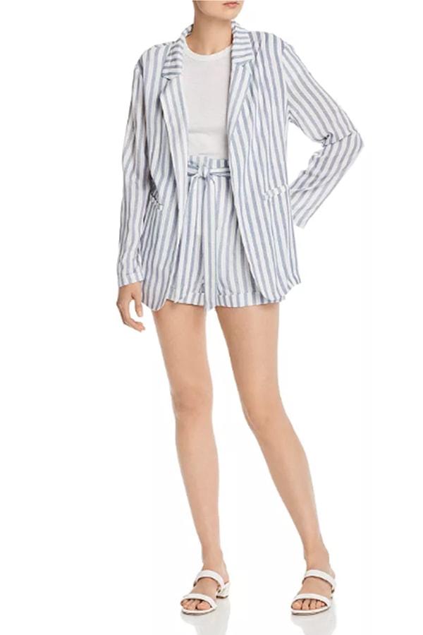 Striped women's short set
