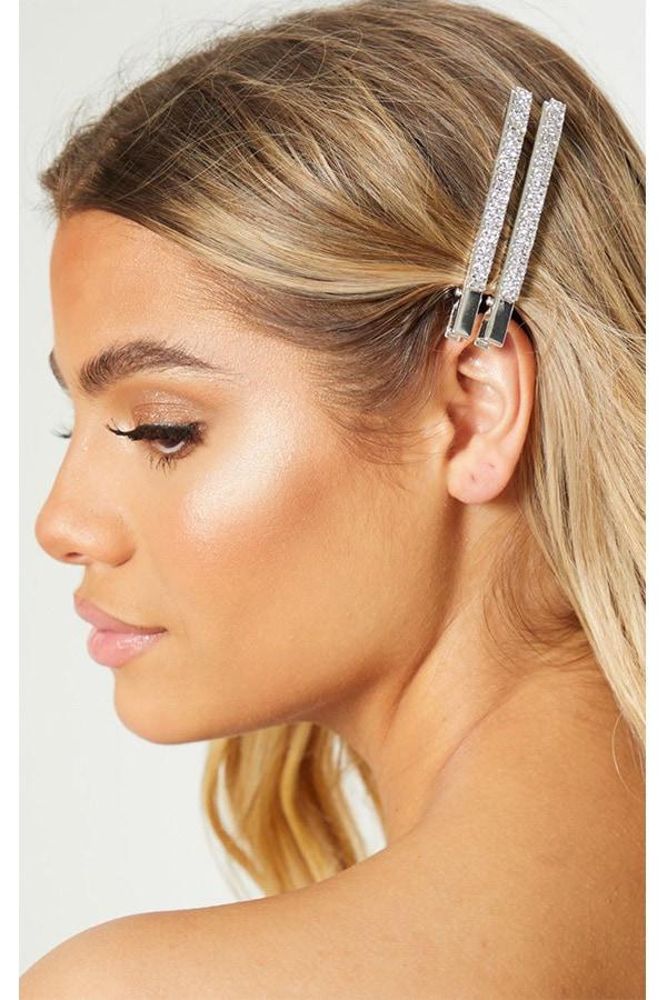 Oversized rhinestone hair clip