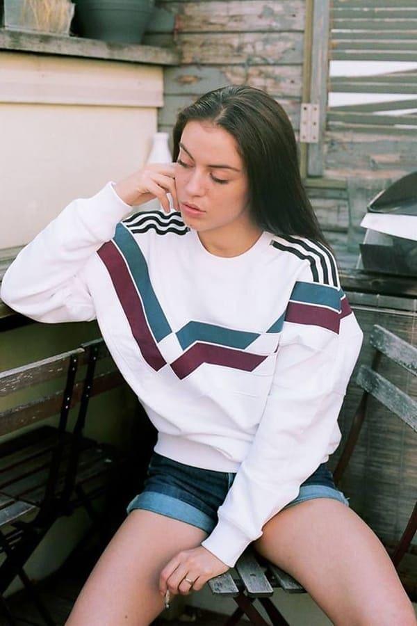 Model wearing Palace brand streetwear