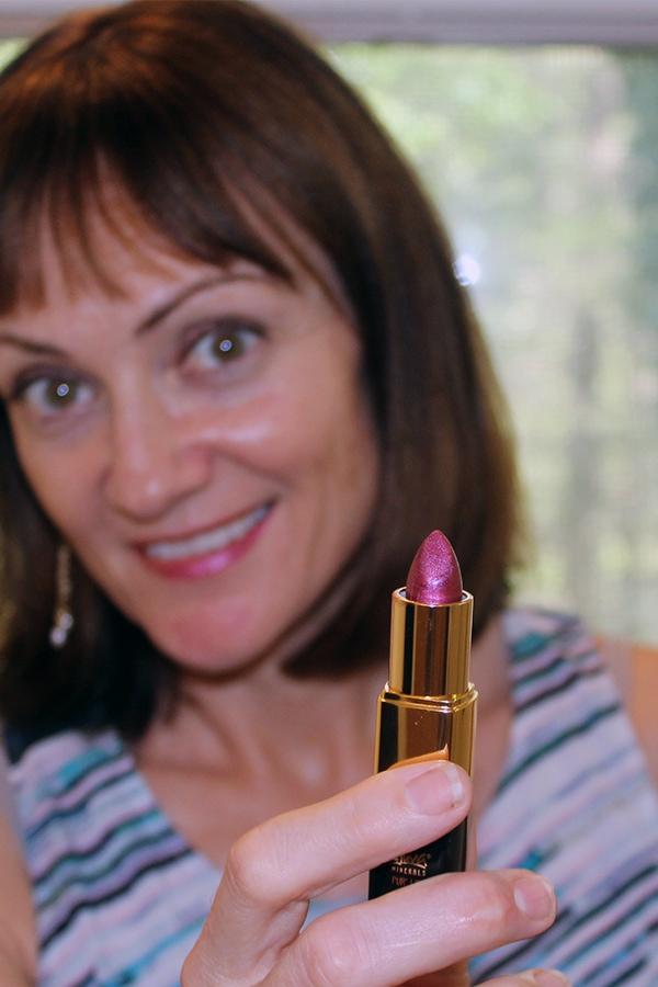 Rejuva Minerals clean beauty brand lipstick in plum punch