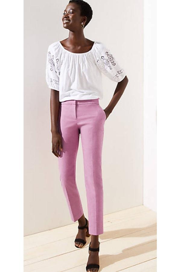 Lavender pencil pants