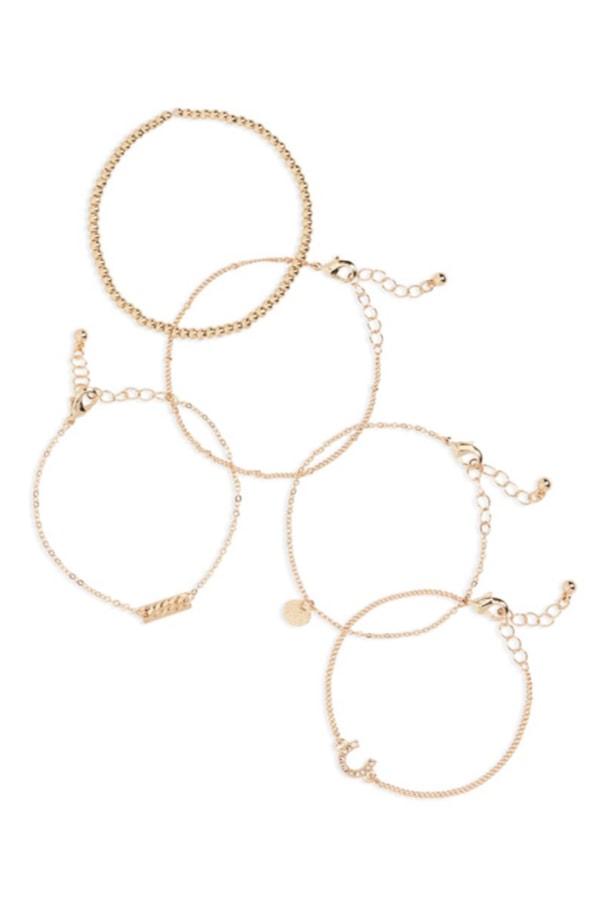 Set of dainty bangles