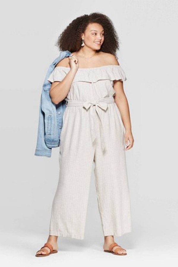 Off-shoulder jumpsuit by universal thread