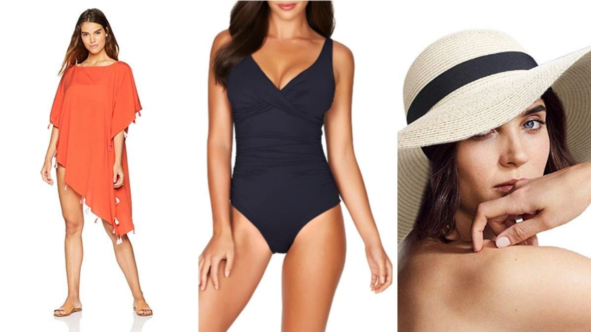 From our outfit ideas file: pool outfit for women over 50