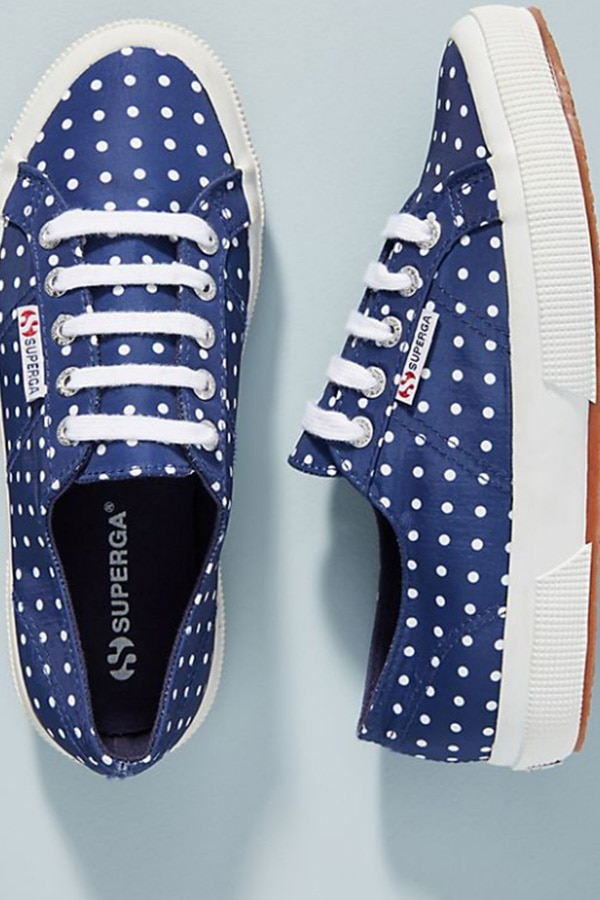 Superga polka dot sneakers