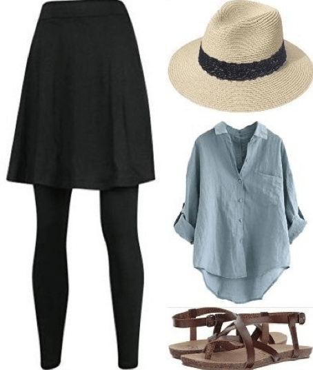 Outfit collage for what to wear in Barcelona