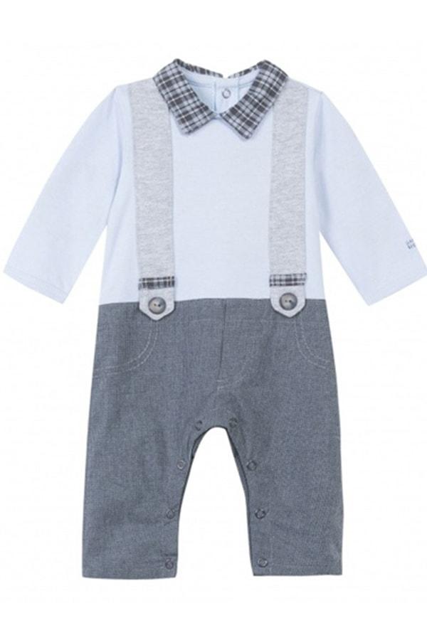 Boys onesie with suspenders