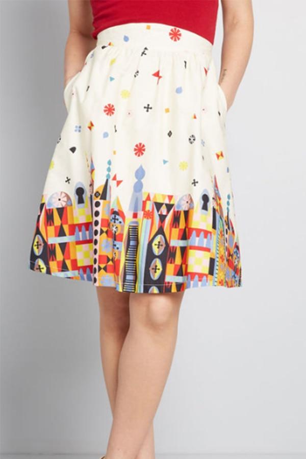 Patterned A-line skirt