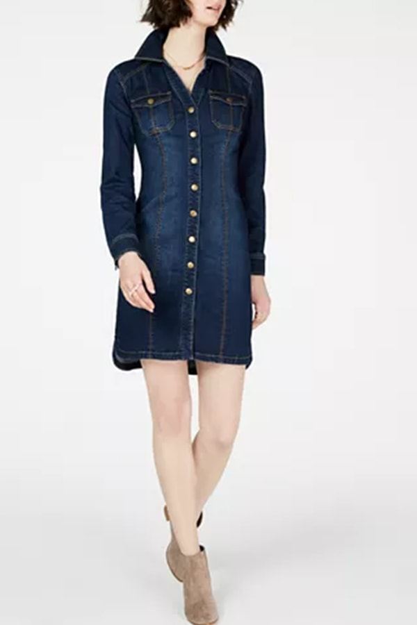 Button-down denim dress from Macy's