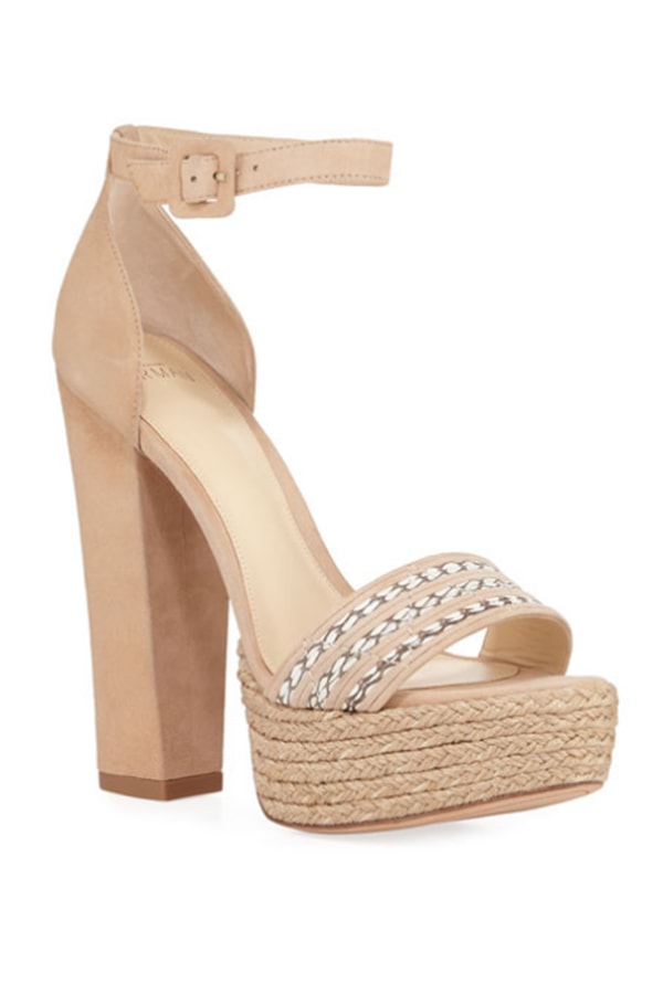 Designer shoes -- platform sandals