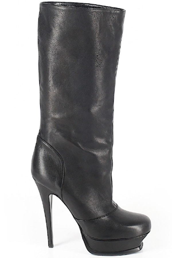 Yves Saint Laurent black boots