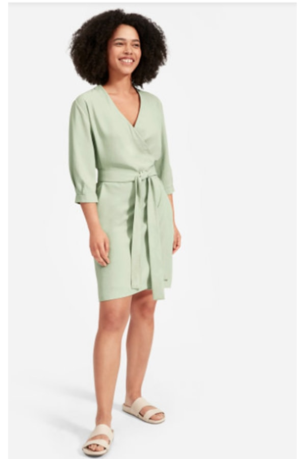 Mini wrap dress from Everlane