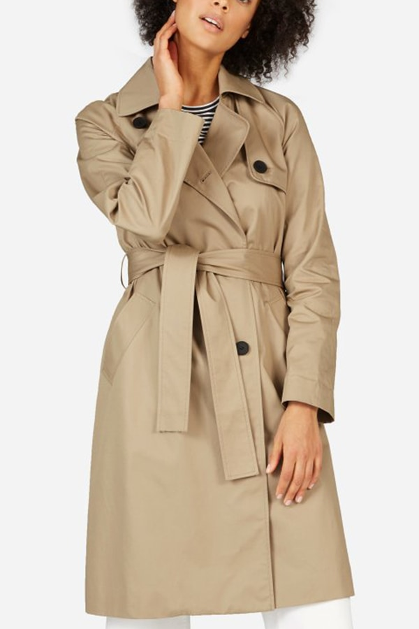 Khaki trench coat from Everlane