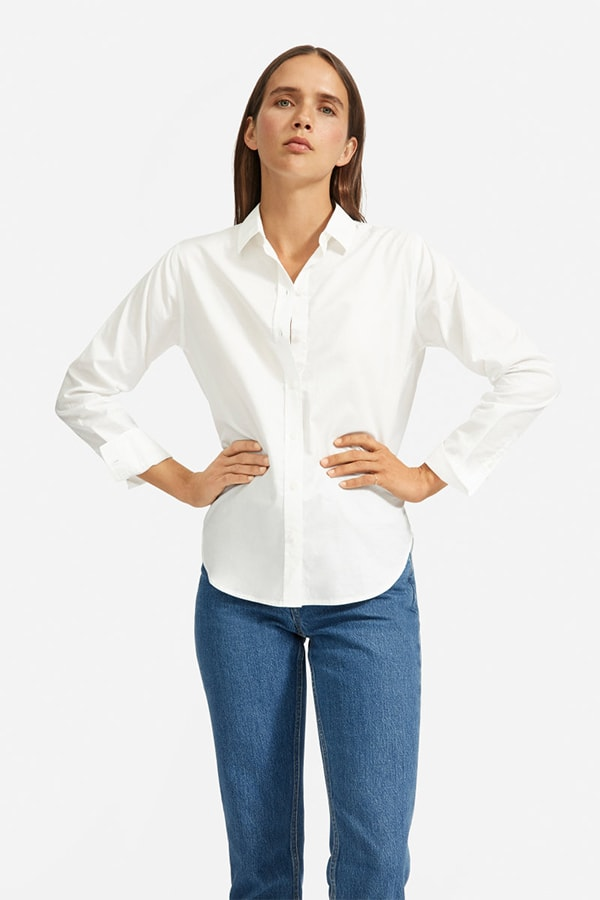 White cotton shirt from Everlane