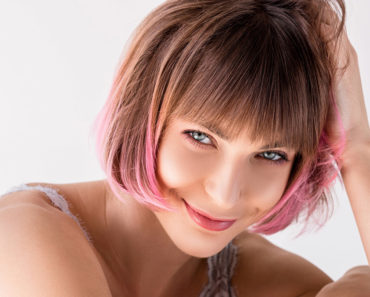 Woman with latest hair color trends