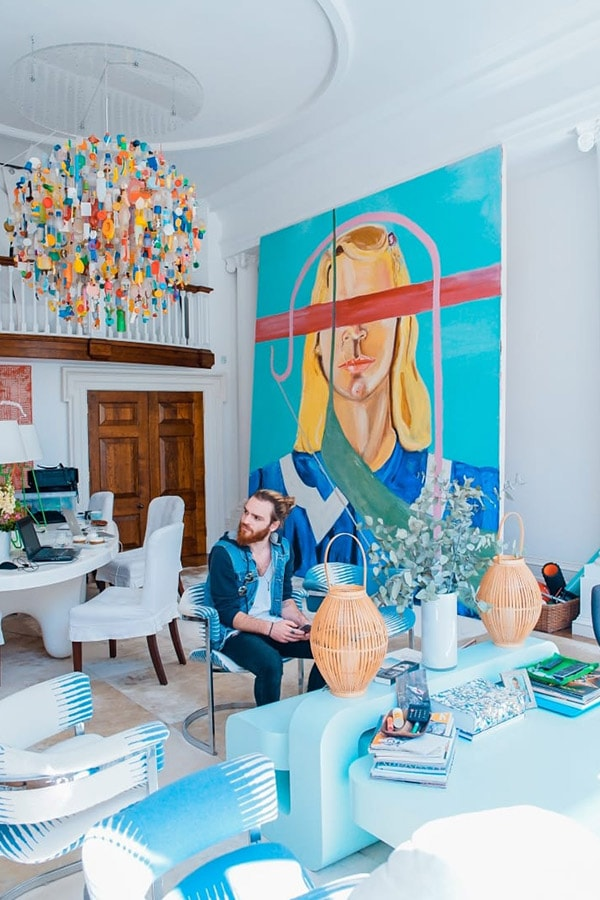 Bold artwork in a room