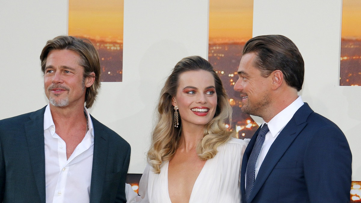 "Margot Robbie, Brad Pitt, Leonardo DiCaprio at the ""Once Upon a Time in Hollywood"" premiere"
