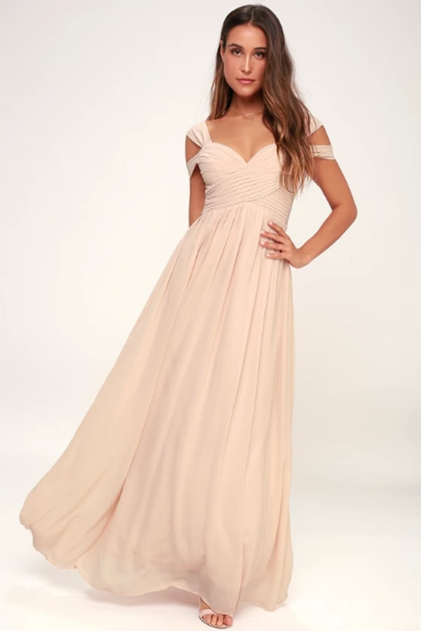 Maxi dress in blush color