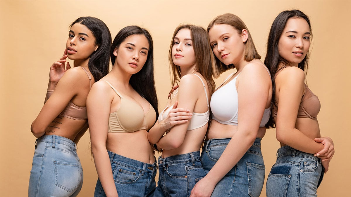 Women of different shapes and sizes