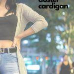 Woman wearing duster cardigan