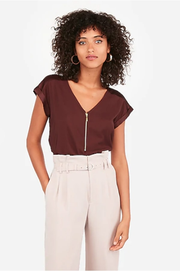 Exposed zipper top from Express