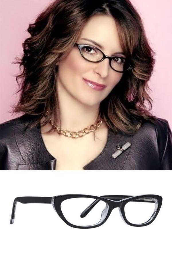 Tina Fey wearing glasses