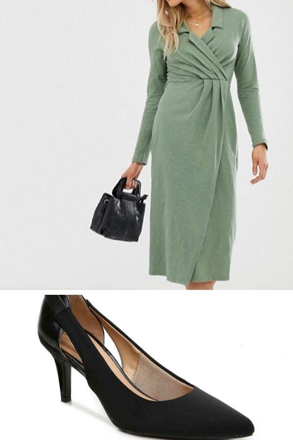Midi dress and pumps