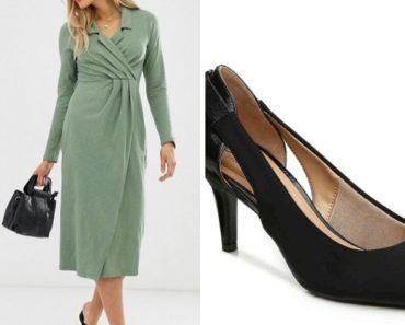 Midi dress and black pumps
