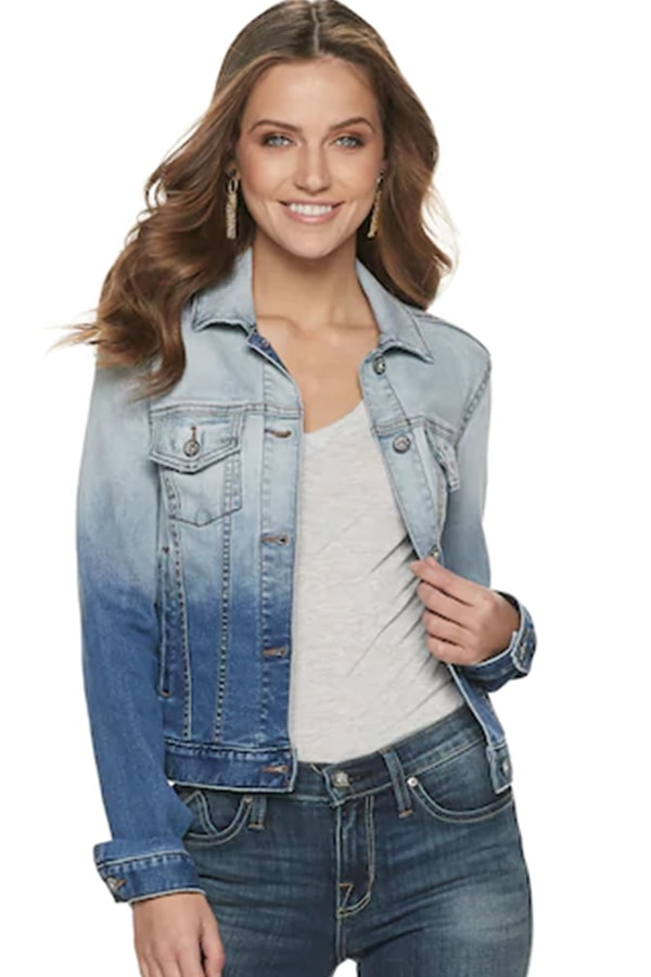 Ombre denim jacket from Kohl's clearance
