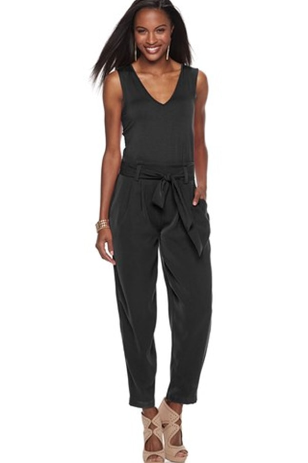 black jumpsuit from kohl's clearance