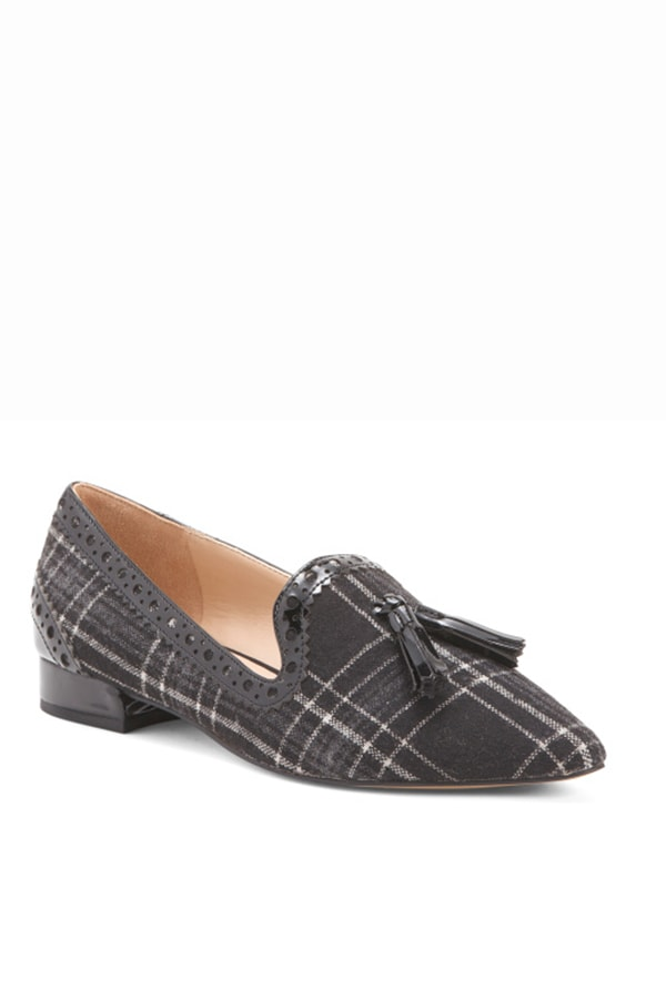 Gray flannel loafers