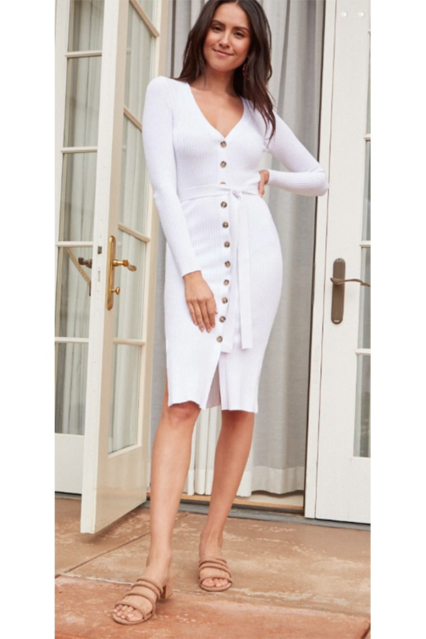 White sweater dress from Forever 21