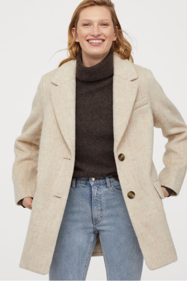 Short neutral coat from H&M