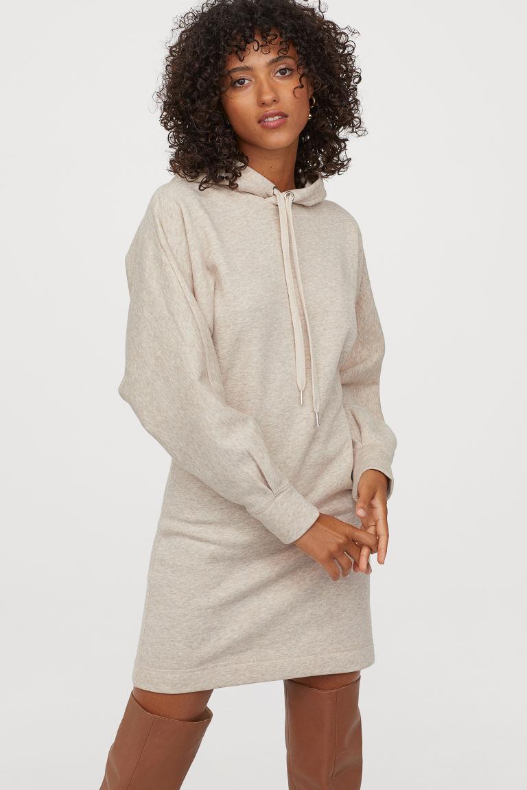 Long hooded sweatshirt