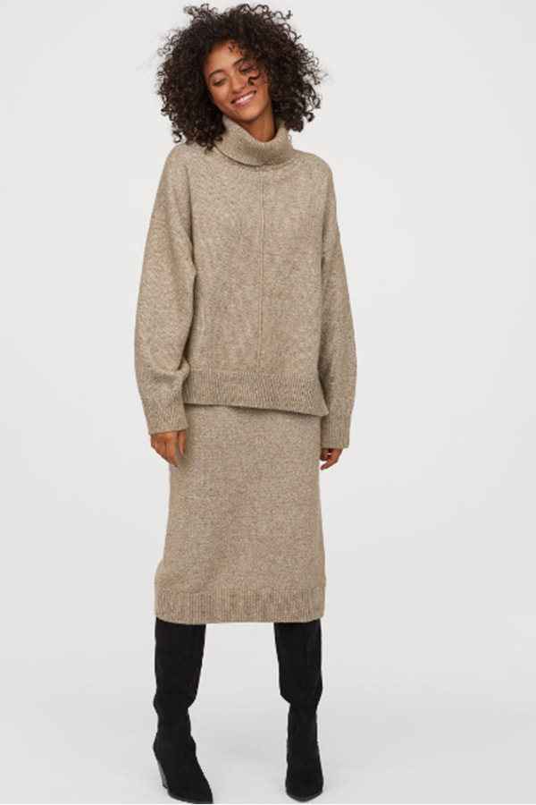 Knit skirt from H&M Conscious Collection