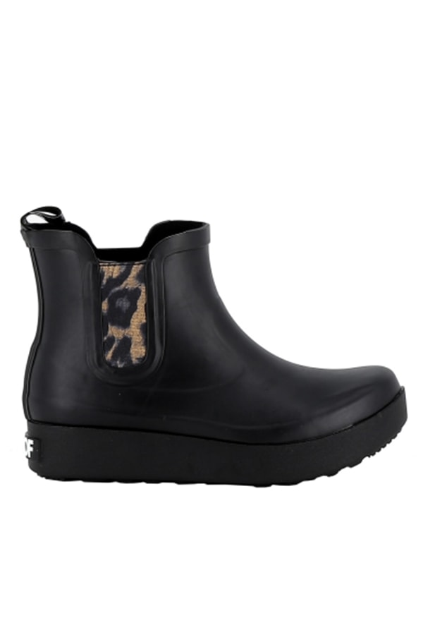 Rubber boots with leopard print