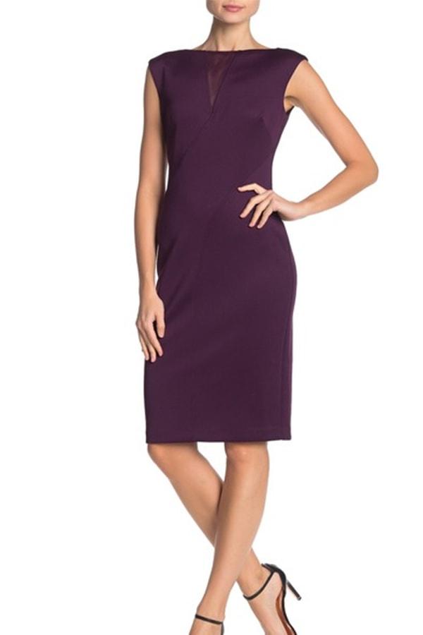 Plum sheath dress