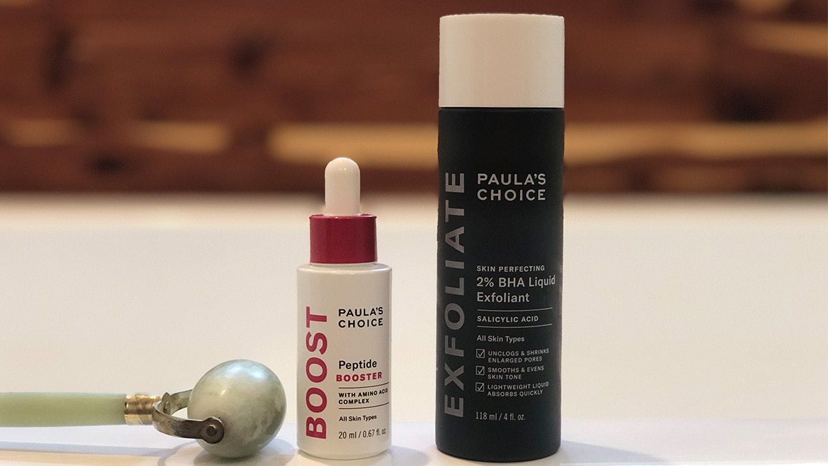 Paula's Choice review: bha exfoliant and peptide booster