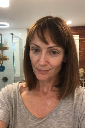 Catherine Brock with no makeup on