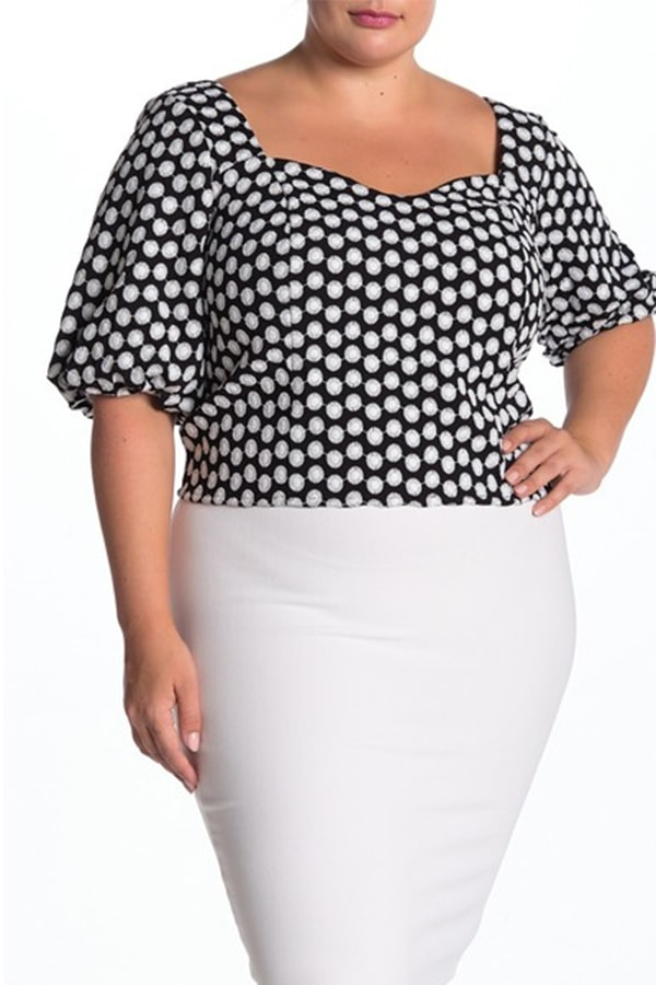 patterned top from Eloquii
