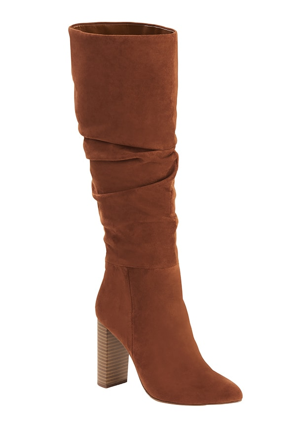 Scoop slouch boots