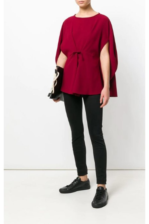 Chic red blouse