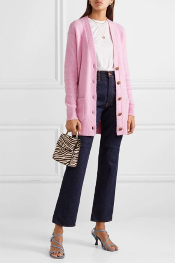 Chic pink cardigan from J Crew