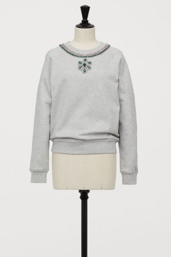 Rhinestone sweatshirt from H&M