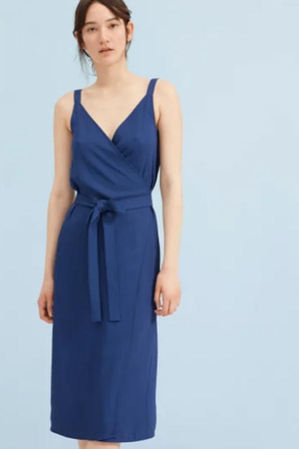 Classic blue wrap dress